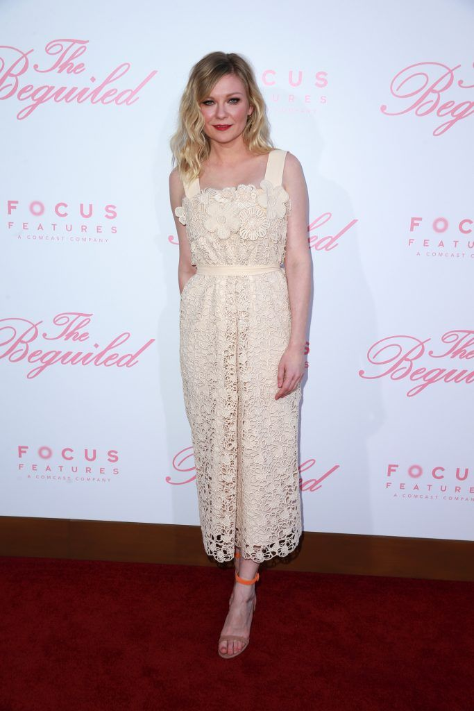 "Actor Kirsten Dunst attends the premiere of Focus Features' ""The Beguiled"" at the Directors Guild of America on June 12, 2017 in Los Angeles, California.  (Photo by Rich Fury/Getty Images)"