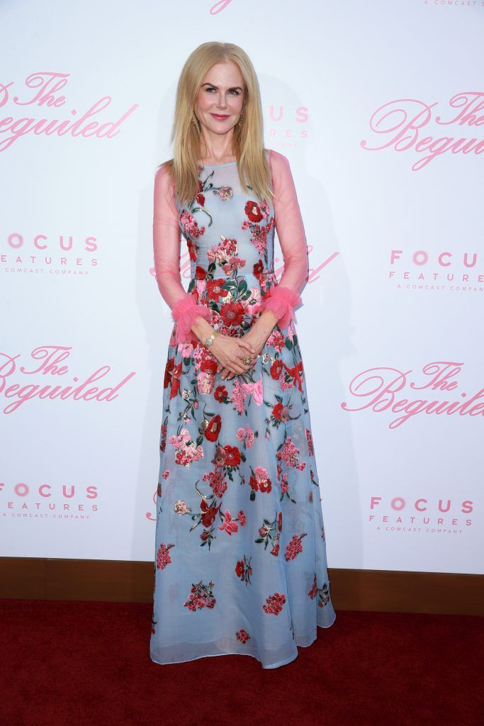 "Actor Nicole Kidman attends the premiere of Focus Features' ""The Beguiled"" at the Directors Guild of America on June 12, 2017 in Los Angeles, California.  (Photo by Rich Fury/Getty Images)"