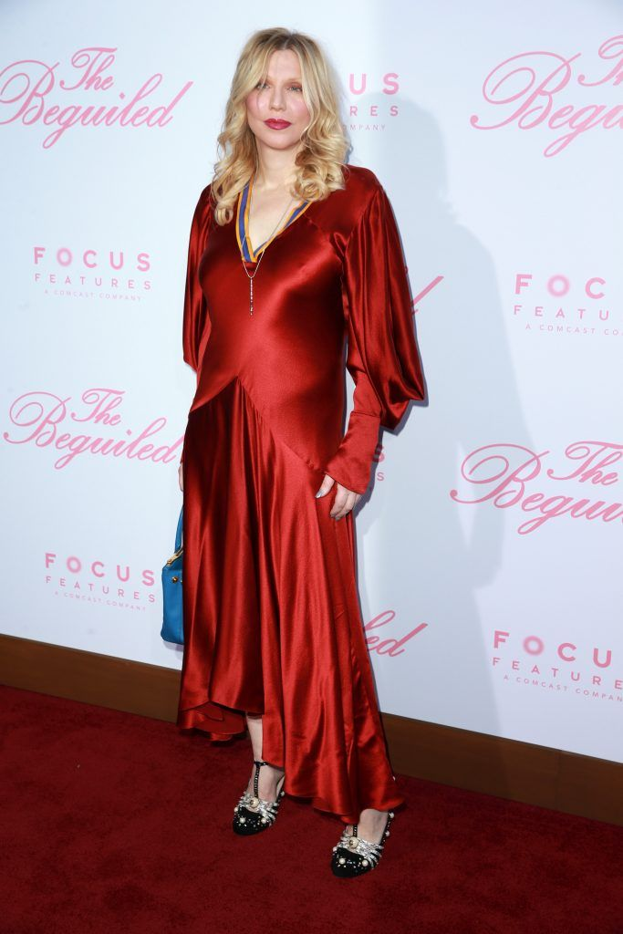 "Courtney Love attends the premiere of Focus Features' ""The Beguiled"" at the Directors Guild of America on June 12, 2017 in Los Angeles, California.  (Photo by Rich Fury/Getty Images)"