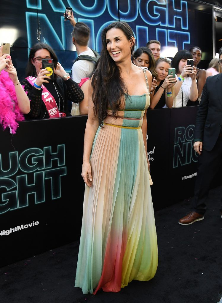 Demi Moore attends the 'Rough Night' premeire at AMC Loews Lincoln Square on June 12, 2017 in New York City. (Photo by ANGELA WEISS/AFP/Getty Images)