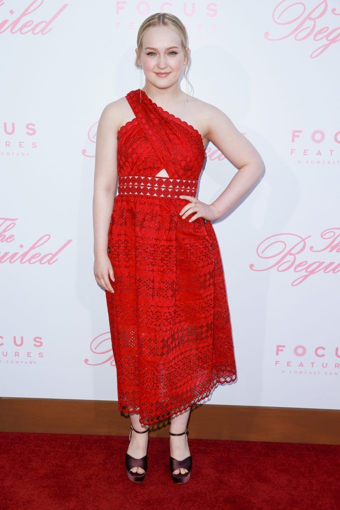 """Actor Emma Howard attends the premiere of Focus Features' """"The Beguiled"""" at Directors Guild Of America on June 12, 2017 in Los Angeles, California.  (Photo by Rich Fury/Getty Images)"""