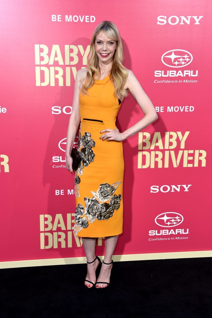 """Actress Riki Lindhome arrives at the Premiere of Sony Pictures' """"Baby Driver"""" at Ace Hotel on June 14, 2017 in Los Angeles, California.  (Photo by Frazer Harrison/Getty Images)"""