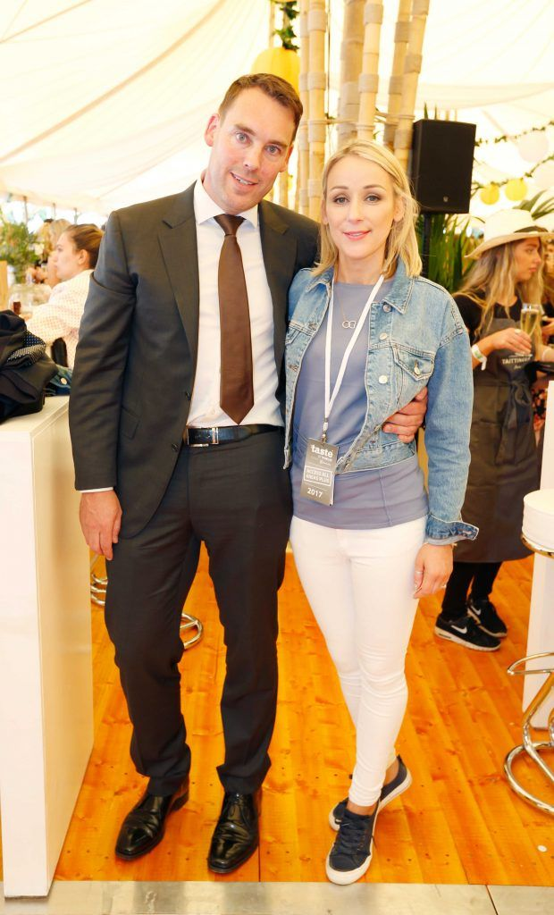 Pictured are Maeve Gallagher and Simon O'Flaherty at Taste 2017 taking place in the Iveagh Gardens, Dublin. The event features the best of the Irish food and drink scene over four days, with more than 35,000 people attending. Photo: Sasko Lazarov/Photocall Ireland