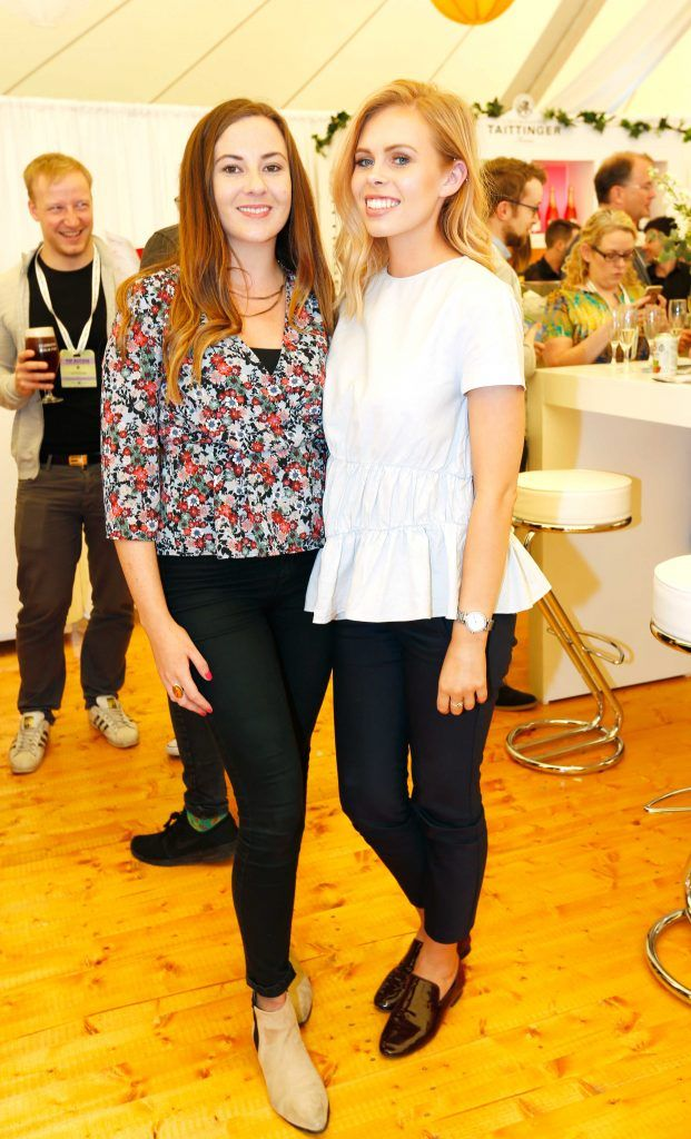 Pictured are (LtoR) Katie O'Brien and Kim Francis at Taste 2017 taking place in the Iveagh Gardens, Dublin. The event features the best of the Irish food and drink scene over four days, with more than 35,000 people attending. Photo: Sasko Lazarov/Photocall Ireland