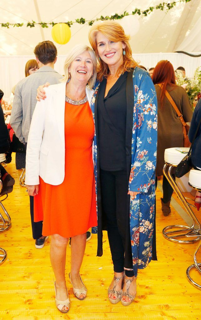 Pictured are (LtoR) Valerie Kennedy and Roisin O'Hea at Taste 2017 taking place in the Iveagh Gardens, Dublin. The event features the best of the Irish food and drink scene over four days, with more than 35,000 people attending. Photo: Sasko Lazarov/Photocall Ireland
