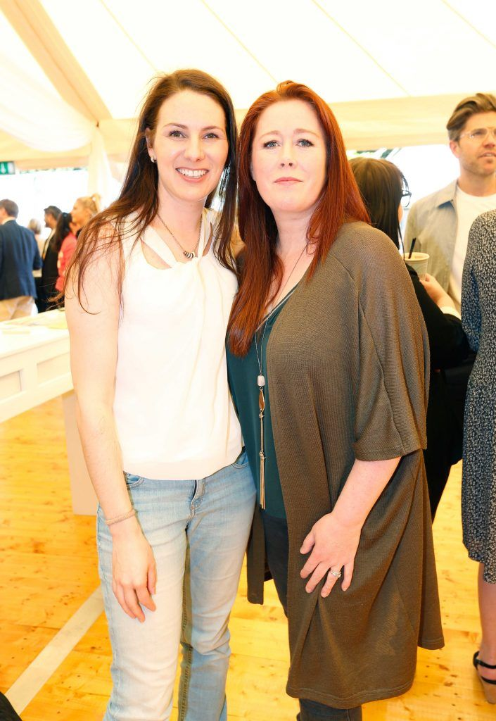 Pictured are (LtoR) Eva Burg and Jennifer Oppermann at Taste 2017 taking place in the Iveagh Gardens, Dublin. The event features the best of the Irish food and drink scene over four days, with more than 35,000 people attending. Photo: Sasko Lazarov/Photocall Ireland