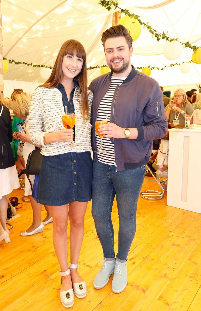 Pictured are (LtoR) James Patrice and Clementine Macneice at Taste 2017 taking place in the Iveagh Gardens, Dublin. The event features the best of the Irish food and drink scene over four days, with more than 35,000 people attending. Photo: Sasko Lazarov/Photocall Ireland