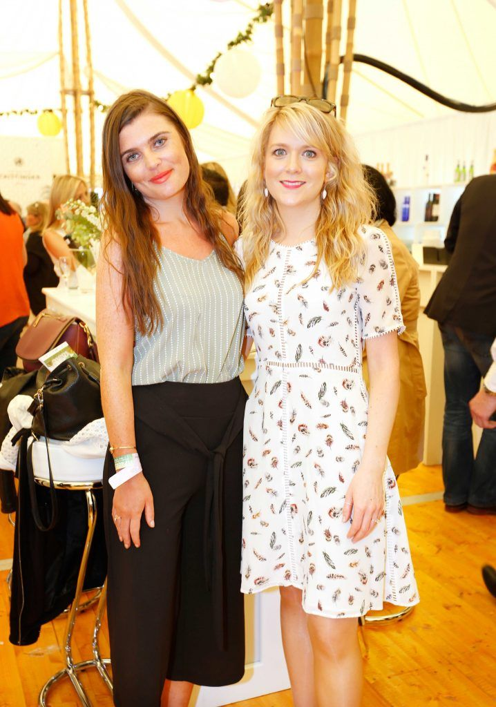Pictured are (LtoR) Kate Gleeson and Laurie Kelly at Taste 2017 taking place in the Iveagh Gardens, Dublin. The event features the best of the Irish food and drink scene over four days, with more than 35,000 people attending. Photo: Sasko Lazarov/Photocall Ireland