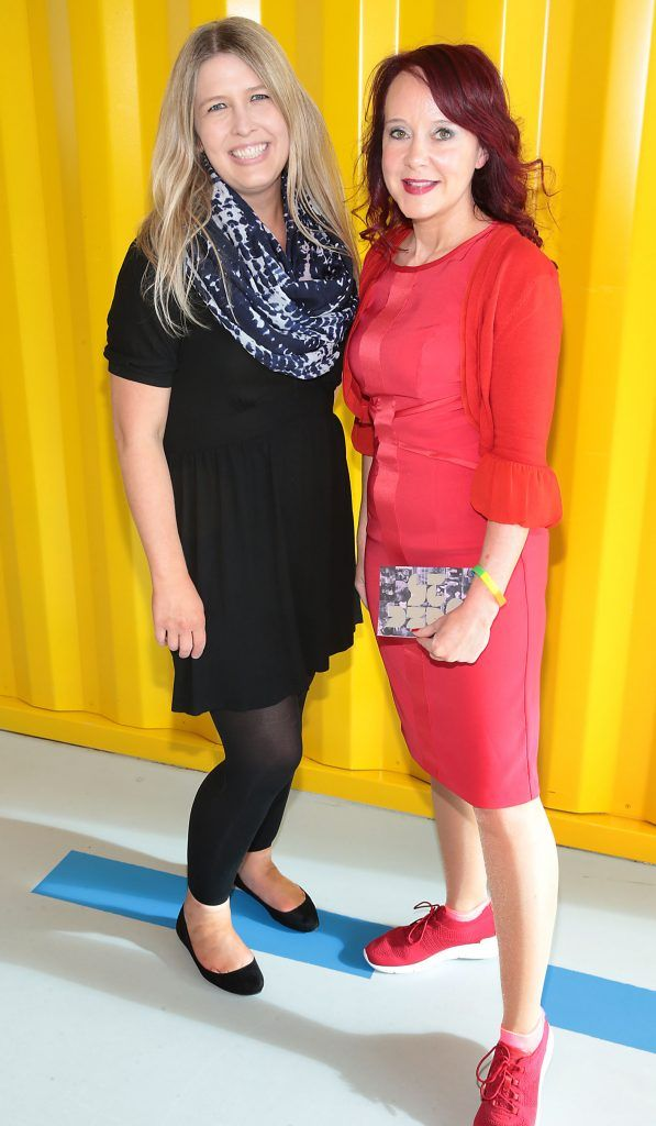 Lisa Laippalainen and Caroline Mone at the GAZE LGBT Film Festival special 25th anniversary programme launch hosted by lead sponsor Accenture at The Dock, Dublin. Picture by Brian McEvoy