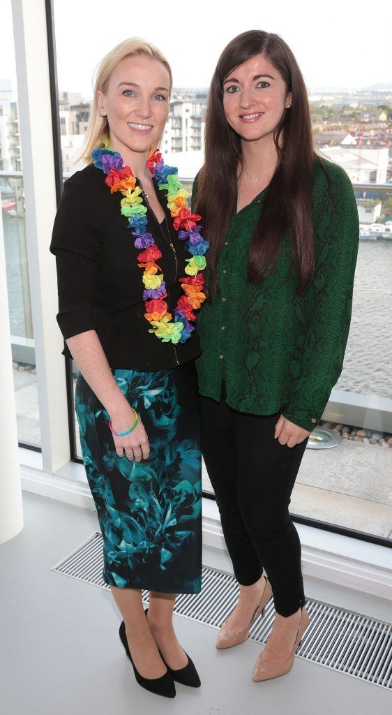 Louise Murphy and Aisling Fitzgerald at the GAZE LGBT Film Festival special 25th anniversary programme launch hosted by lead sponsor Accenture at The Dock, Dublin. Picture by Brian McEvoy