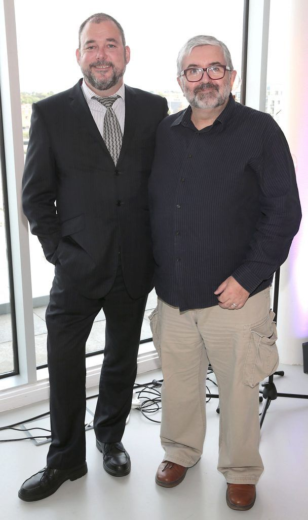 Gary Hodkinson and Bill Hughes at the GAZE LGBT Film Festival special 25th anniversary programme launch hosted by lead sponsor Accenture at The Dock, Dublin. Picture by Brian McEvoy