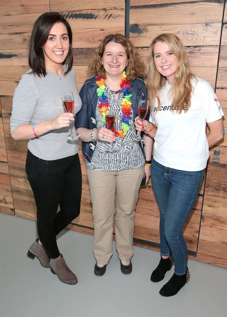 Emma Synnott, Tish Loughrey and Bebhinn Walsh at the GAZE LGBT Film Festival special 25th anniversary programme launch hosted by lead sponsor Accenture at The Dock, Dublin. Picture by Brian McEvoy