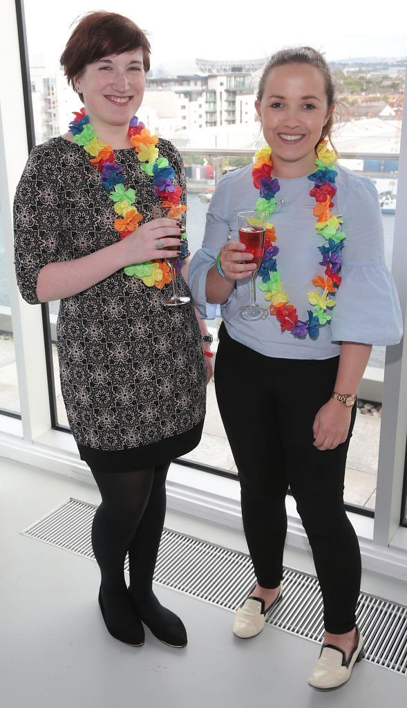 Aoife McCormack and Claire Galvin at the GAZE LGBT Film Festival special 25th anniversary programme launch hosted by lead sponsor Accenture at The Dock, Dublin. Picture by Brian McEvoy