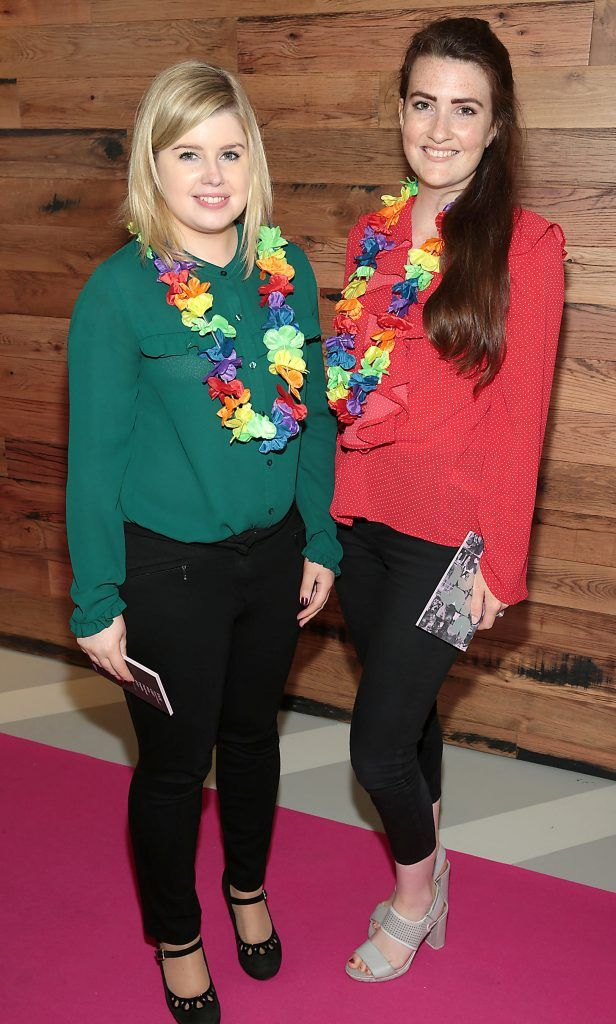 Karina Dooley and Emily Kielthy at the GAZE LGBT Film Festival special 25th anniversary programme launch hosted by lead sponsor Accenture at The Dock, Dublin. Picture by Brian McEvoy