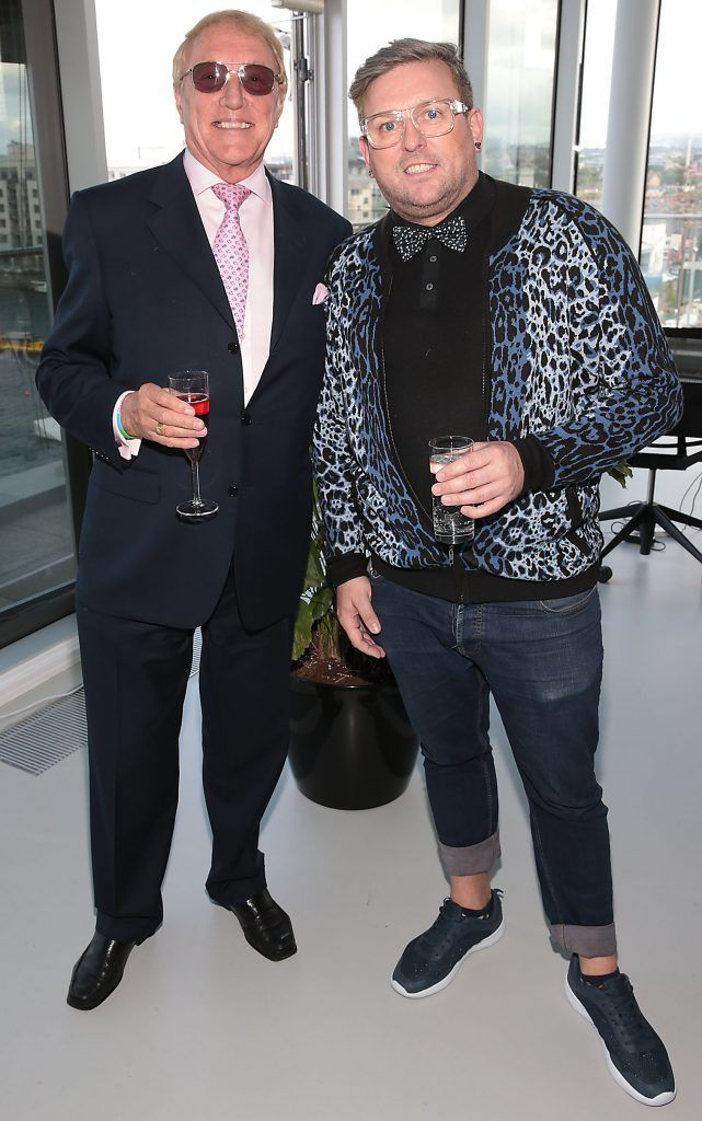 John Pickering and Noel Sutton at the GAZE LGBT Film Festival special 25th anniversary programme launch hosted by lead sponsor Accenture at The Dock, Dublin. Picture by Brian McEvoy