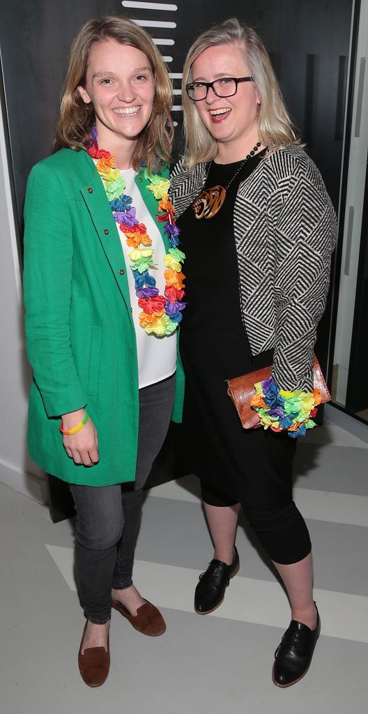 Heather McCormick and Sarah Williams at the GAZE LGBT Film Festival special 25th anniversary programme launch hosted by lead sponsor Accenture at The Dock, Dublin. Picture by Brian McEvoy