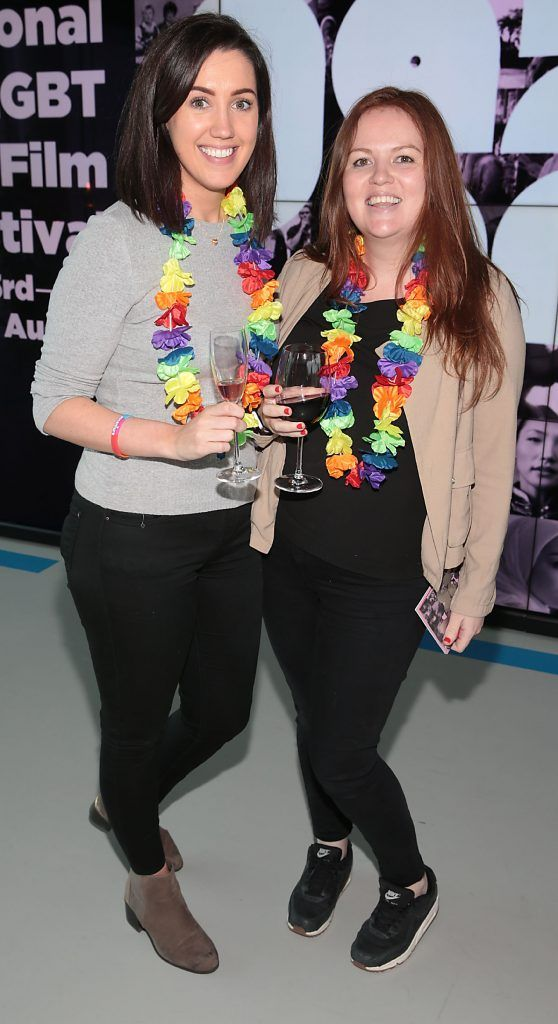 Emma Synnott and Suzie Brock at the GAZE LGBT Film Festival special 25th anniversary programme launch hosted by lead sponsor Accenture at The Dock, Dublin. Picture by Brian McEvoy