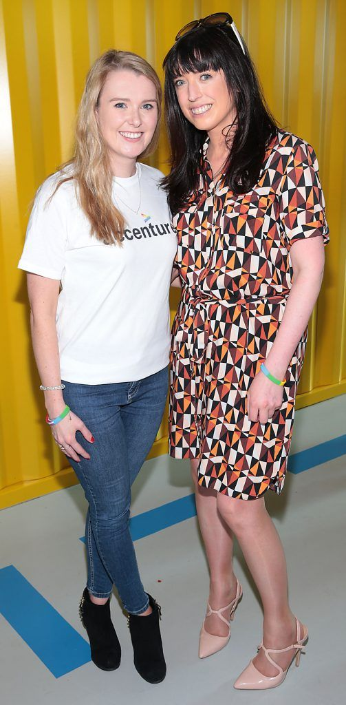 Bebhinn Walsh and Lynsey O Brien at the GAZE LGBT Film Festival special 25th anniversary programme launch hosted by lead sponsor Accenture at The Dock, Dublin. Picture by Brian McEvoy