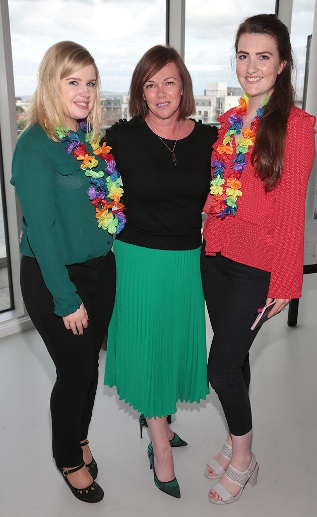 Karina Dooley, Caroline Douglas and Emily Kielthy at the GAZE LGBT Film Festival special 25th anniversary programme launch hosted by lead sponsor Accenture at The Dock, Dublin. Picture by Brian McEvoy