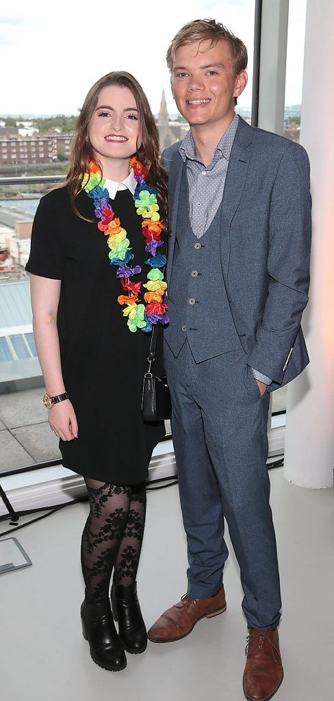 Heather Croghan and Ben Colwell at the GAZE LGBT Film Festival special 25th anniversary programme launch hosted by lead sponsor Accenture at The Dock, Dublin. Picture by Brian McEvoy