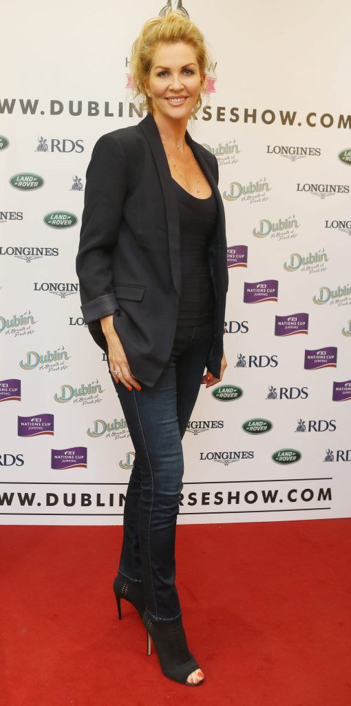Danielle Haynes pictured in Weir & Sons on Grafton Street at the social launch of this year's Dublin Horse Show which takes place in the RDS from August 9 - 13th. Photo: Leon Farrell / Photocall Ireland