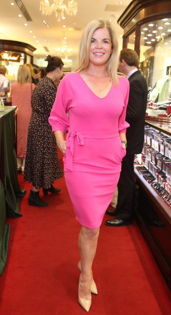 Marietta Doran pictured in Weir & Sons on Grafton Street at the social launch of this year's Dublin Horse Show which takes place in the RDS from August 9 - 13th. Photo: Leon Farrell / Photocall Ireland