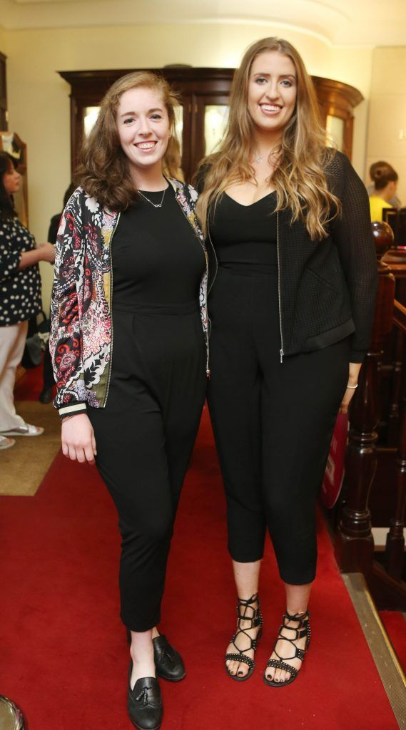 Sarah Gellehie and Devin Finnernan pictured in Weir & Sons on Grafton Street at the social launch of this year's Dublin Horse Show which takes place in the RDS from August 9 - 13th. Photo: Leon Farrell / Photocall Ireland