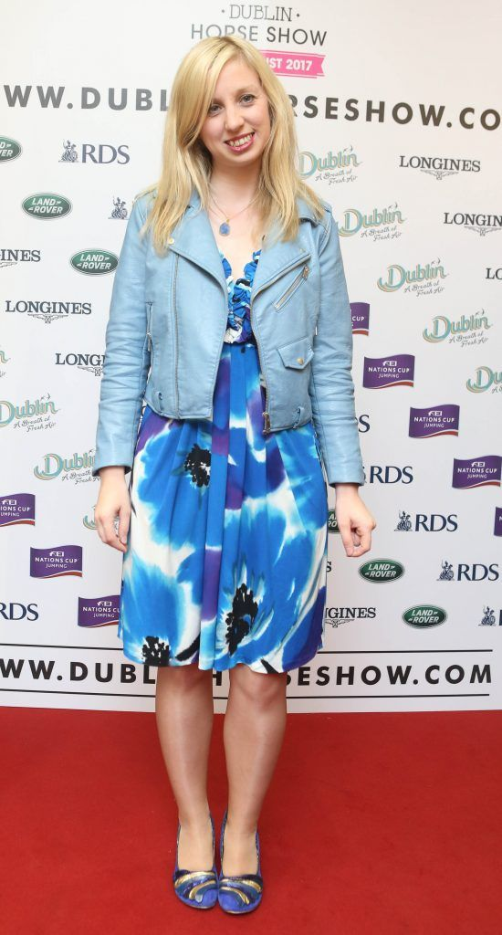 Claire Highland pictured in Weir & Sons on Grafton Street at the social launch of this year's Dublin Horse Show which takes place in the RDS from August 9 - 13th. Photo: Leon Farrell / Photocall Ireland