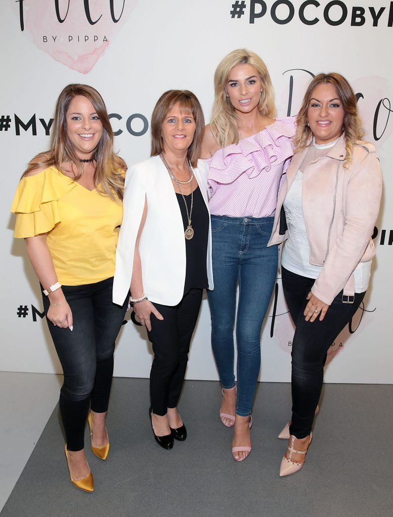Cork Lady Mayoress Georgina Fitzgerald and her daughters Michelle Fitzgerald and Deborah Fitzgerald with Pippa O Connor at the opening of Pippa O'Connor's POCO by Pippa Pop Up shop at Mahon Point Shopping Centre, Cork. Picture: Brian McEvoy