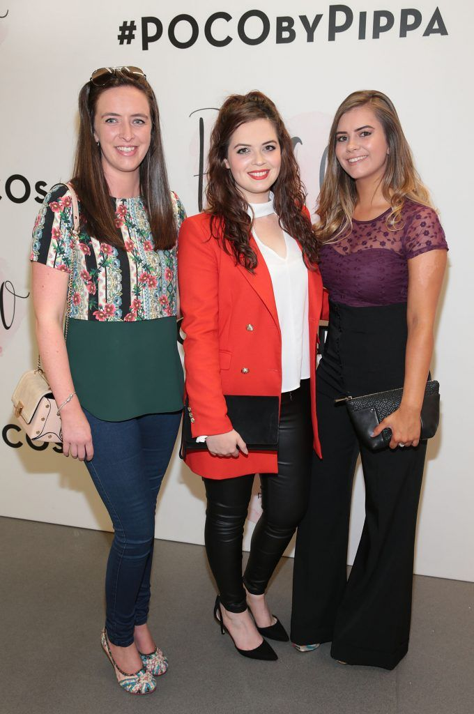 Helen Gilroy,Eva Spitere and Elle Condon at the opening of Pippa O'Connor's POCO by Pippa Pop Up shop at Mahon Point Shopping Centre, Cork. Picture: Brian McEvoy