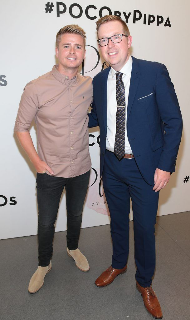 Brian Ormond and Ray Kelleher at the opening of Pippa O'Connor's POCO by Pippa Pop Up shop at Mahon Point Shopping Centre, Cork. Picture: Brian McEvoy