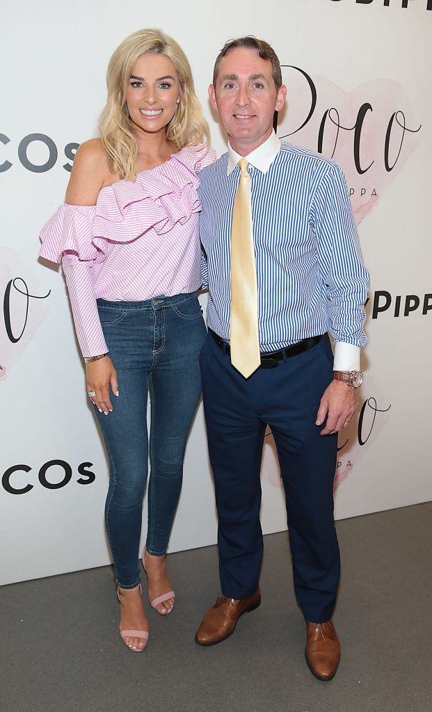 Pippa O Connor and  Justin Young-Manager Mahon Point Shopping Centre at the opening of Pippa O'Connor's POCO by Pippa Pop Up shop at Mahon Point Shopping Centre, Cork. Picture: Brian McEvoy