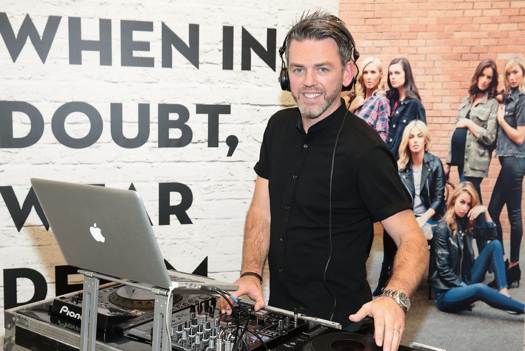 DJ Eddie Hughes at the opening of Pippa O'Connor's POCO by Pippa Pop Up shop at Mahon Point Shopping Centre, Cork. Picture: Brian McEvoy