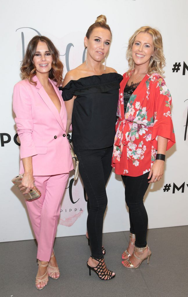 Carol Byrne, Leighann Gibbon and Jacqui Given at the opening of Pippa O'Connor's POCO by Pippa Pop Up shop at Mahon Point Shopping Centre, Cork. Picture: Brian McEvoy