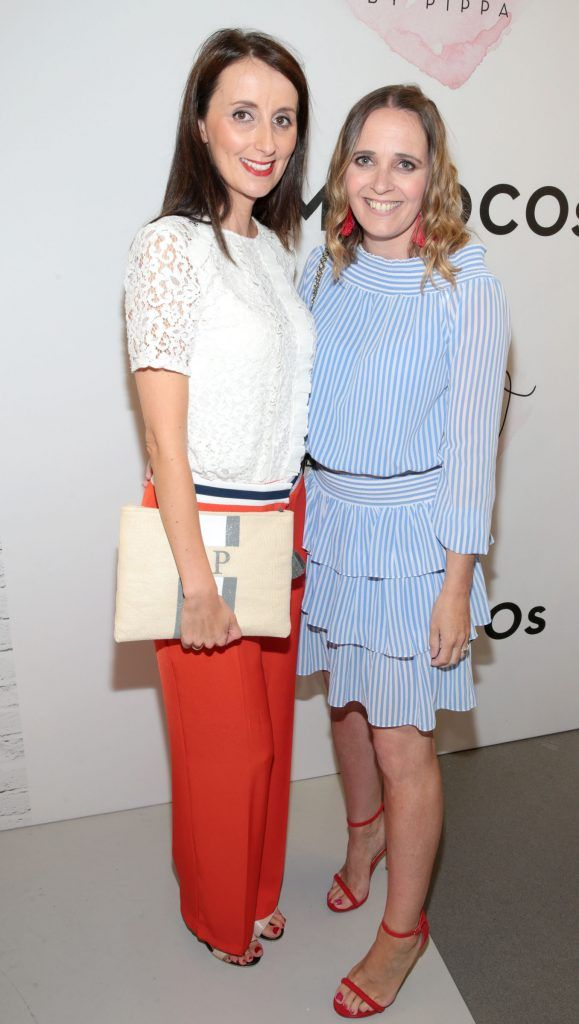 Aoife Pomphrett and Pam Ross at the opening of Pippa O'Connor's POCO by Pippa Pop Up shop at Mahon Point Shopping Centre, Cork. Picture: Brian McEvoy
