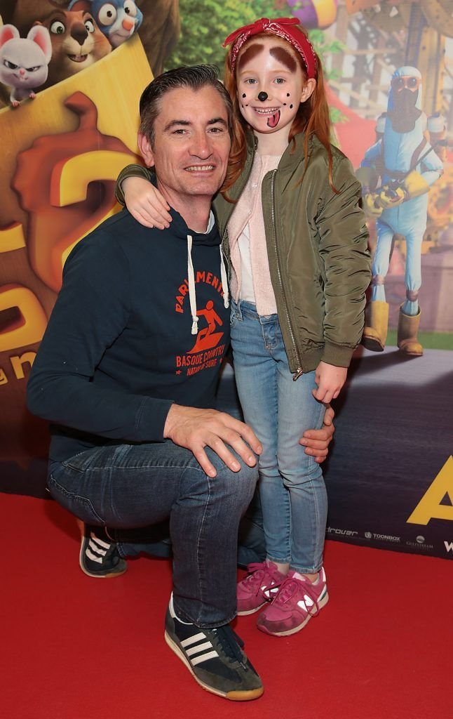 George Fourneau and Bode Fourneau at the special family preview screening of The Nut Job 2 at The Odeon Cinema in Point Village, Dublin. Picture by Brian McEvoy