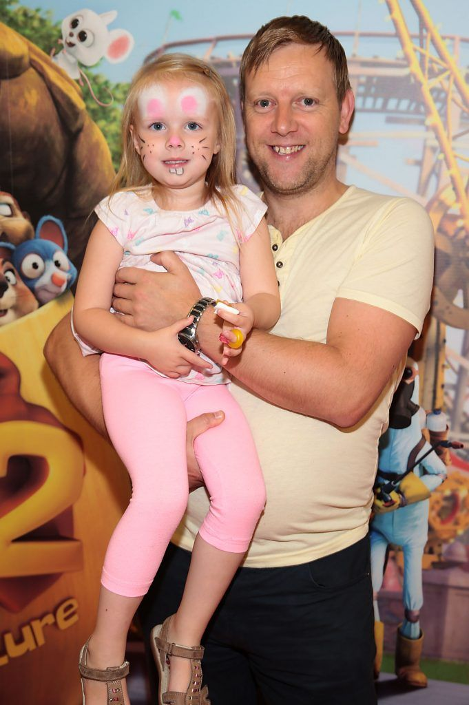 Russell Ramsden and Eva Ramsden at the special family preview screening of The Nut Job 2 at The Odeon Cinema in Point Village, Dublin. Picture by Brian McEvoy