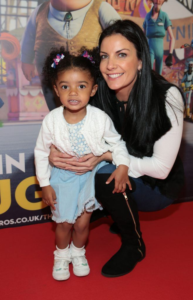 Nyla Degerate and Lucci Minx at the special family preview screening of The Nut Job 2 at The Odeon Cinema in Point Village, Dublin. Picture by Brian McEvoy