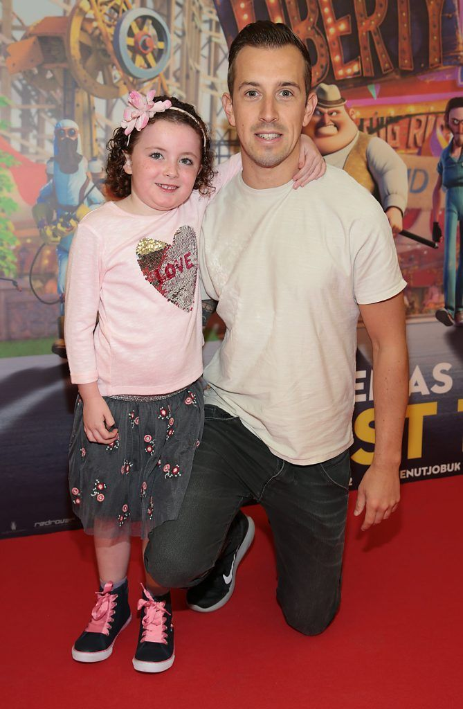 Edie O Faolain and Luke O Faolain at the special family preview screening of The Nut Job 2 at The Odeon Cinema in Point Village, Dublin. Picture by Brian McEvoy