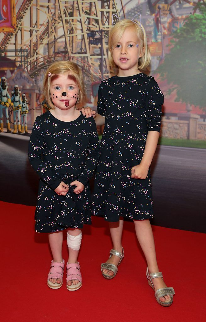 Annalina Orvarsdottir and Birna Ruth Orvarsdottir at the special family preview screening of The Nut Job 2 at The Odeon Cinema in Point Village, Dublin. Picture by Brian McEvoy