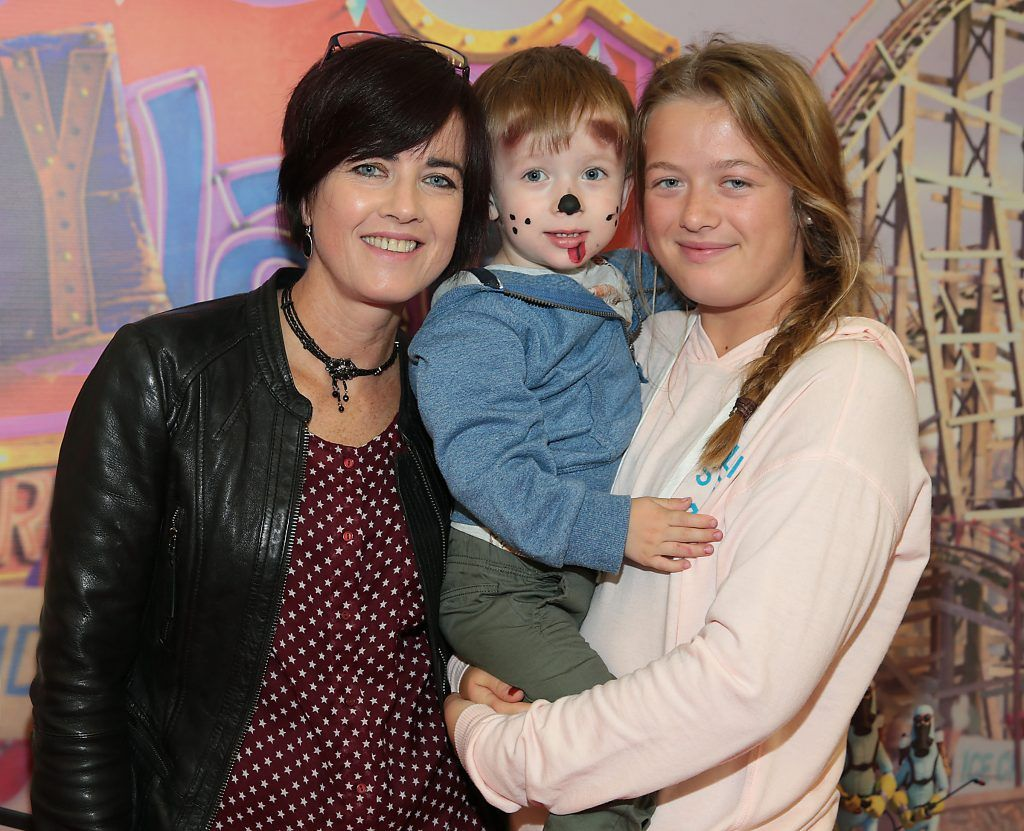 Laura Wall, Jacob Wall and Treasa Wall at the special family preview screening of The Nut Job 2 at The Odeon Cinema in Point Village, Dublin. Picture by Brian McEvoy