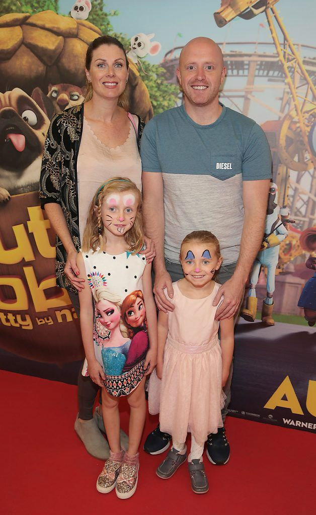 Barbara Coyle, Paul Coyle, Amie Coyle and Lucey Coyle at the special family preview screening of The Nut Job 2 at The Odeon Cinema in Point Village, Dublin. Picture by Brian McEvoy