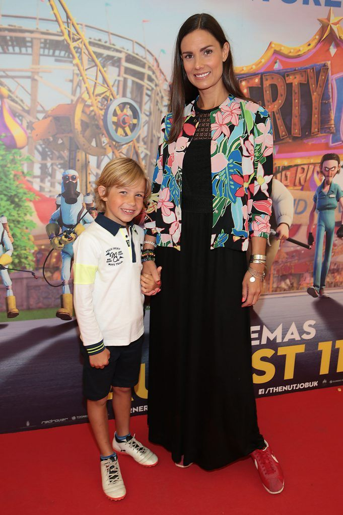 Alison Canavan and son James at the special family preview screening of The Nut Job 2 at The Odeon Cinema in Point Village, Dublin. Picture by Brian McEvoy