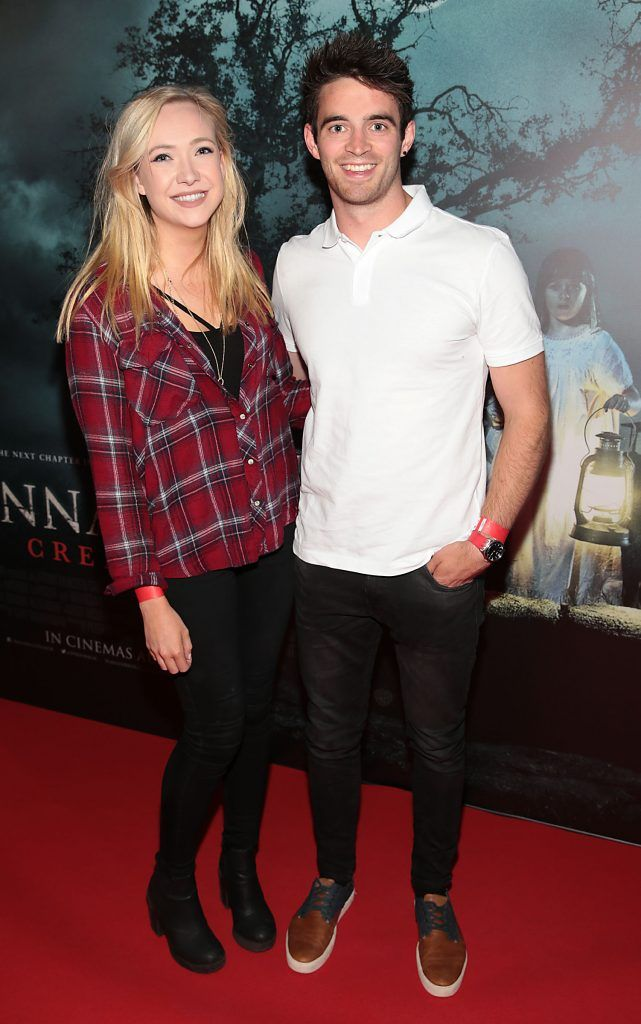 Lorna Danaher and Peter Collins at the special preview screening of Annabelle: Creation at Cineworld, Dublin. Picture: Brian McEvoy