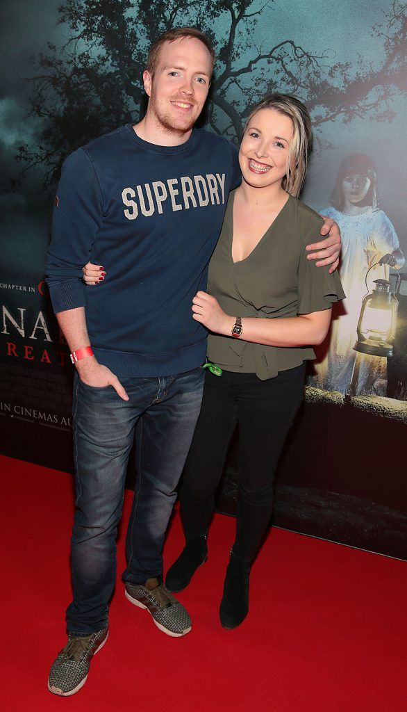 Lorcan Murray and Stacey Corrigan at the special preview screening of Annabelle: Creation at Cineworld, Dublin. Picture: Brian McEvoy