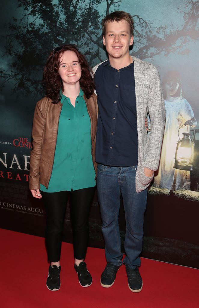 Fiona Browne and Lee McNamara at the special preview screening of Annabelle: Creation at Cineworld, Dublin. Picture: Brian McEvoy