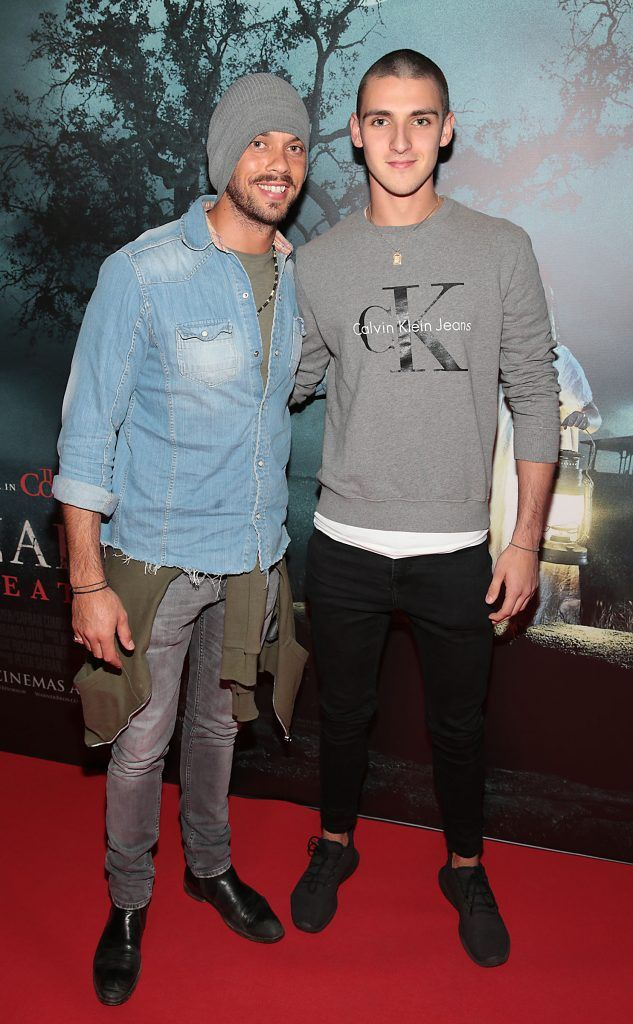 Carl Shaaban and Craig Shaaban at the special preview screening of Annabelle: Creation at Cineworld, Dublin. Picture: Brian McEvoy