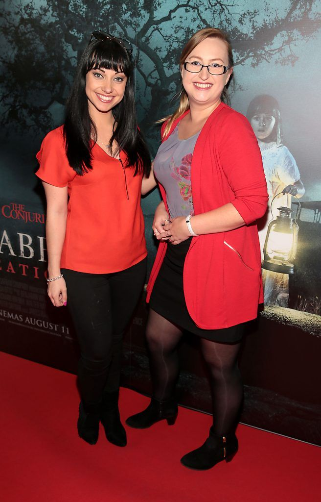 Olivia Hogan and Soracha Chambers at the special preview screening of Annabelle: Creation at Cineworld, Dublin. Picture: Brian McEvoy