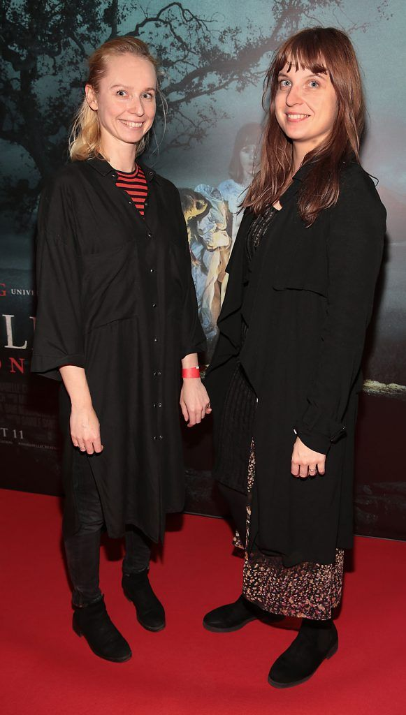 Jakna Wojevic and Alex Vetter at the special preview screening of Annabelle: Creation at Cineworld, Dublin. Picture: Brian McEvoy