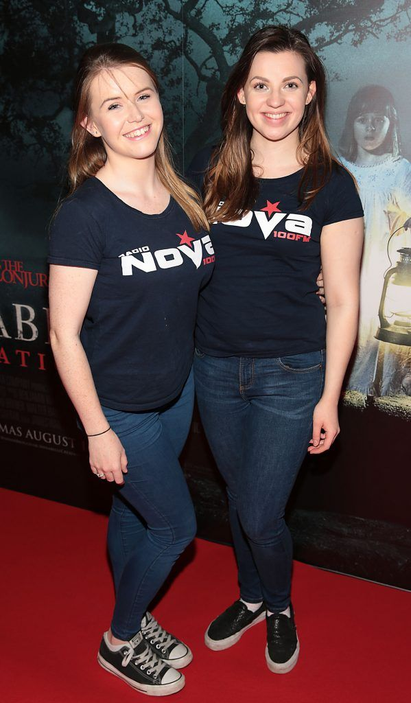 Ciara Noble and Claire McDowell at the special preview screening of Annabelle: Creation at Cineworld, Dublin. Picture: Brian McEvoy